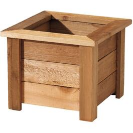 "15"" Red Cedar Square Planter thumb"