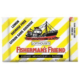 22 Piece Extra Strong Lemon Fishermans Friend Cough Drops thumb