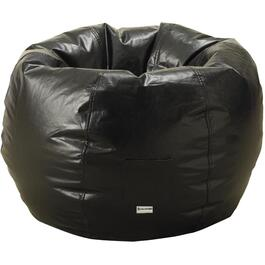 Black Vinyl Beanbag Chair thumb