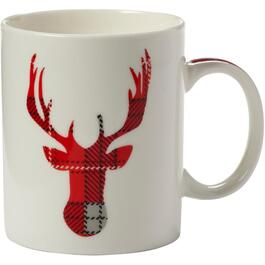 12oz Plaid Reindeer Christmas Mug, Assorted Designs thumb