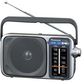 Silver AM-FM Portable Radio thumb