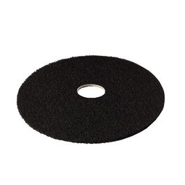 "5 Pack 20"" High Productivity Black Floor Stripping Pads thumb"