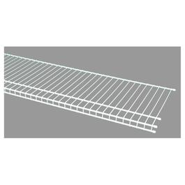 "16"" x 6' White Superslide Wire Shelf thumb"