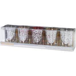 5 Piece Shimmering Glow Votive Candle Set thumb