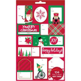 104 Piece Self-Stick Christmas Gift Tags Book thumb