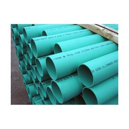 "4"" x 10' CSA Approved Solid PVC Sewer Pipe thumb"