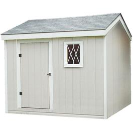 10' x 10' Side Entry Gable Shed Package, with Double Ply Siding thumb