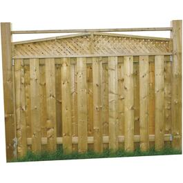 6' Pressure Treated Angled Top Lattice Fence Package thumb