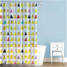 "70"" x 72"" Duckies Peva Shower Curtain thumb"