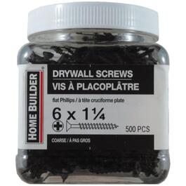 "500 Pack #6 x 1-1/4"" Coarse Thread Drywall Screws thumb"