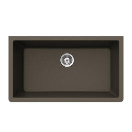 "33"" x 18 1/2"" x 9 7/16"" Single Bronze Granite Undermount Sink thumb"