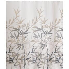 "72"" x 72"" Black and Tan Polyester Anzu Shower Curtain thumb"