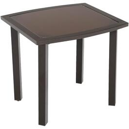 "22"" x 20"" Ridgemont Steel/Glass Side Table thumb"