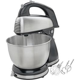 290 Watt 6 Speed Stainless Steel Stand/Hand Mixer, with 4 Quart Bowl thumb