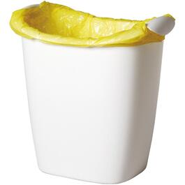 White Shopping Bag Wastebasket thumb