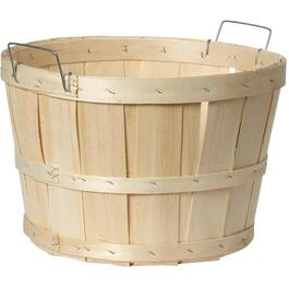 Wooden 1/2 Bushel Basket, with Handles thumb