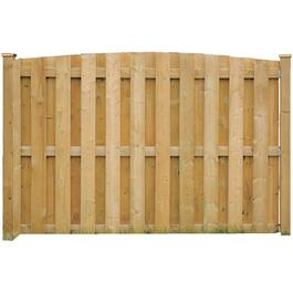 5' Spruce Sanded One Side Convex Top Board On Board Fence Package thumb