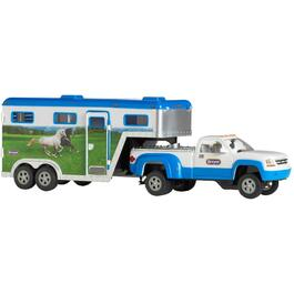Truck and Gooseneck Trailer Stablemates Playset thumb