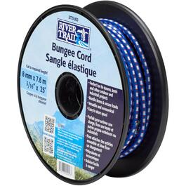 8mm x 25' Bungee Cord on Plastic Spool thumb