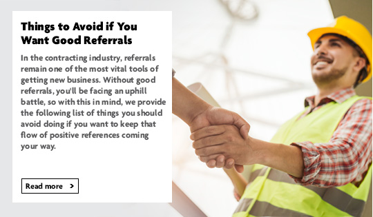 Things to avoid if you want good referrals