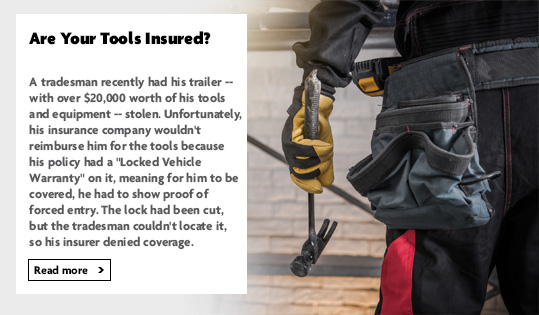 Are your tools insured?