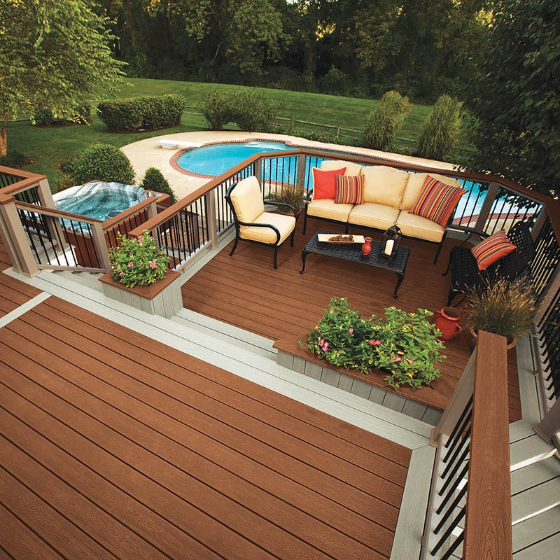 Earth Tones Composite Backyard Deck