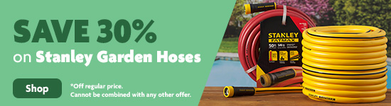 Save 30% on Stanley Garden Hoses