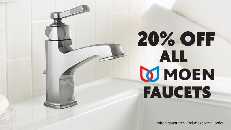 20% off all MOEN Faucets