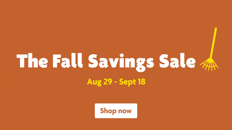 The Fall Savings Sale