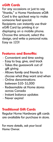 Gift card home hardware home hardware e gift cards content negle Image collections