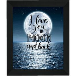 Plaque murale encadrée de 20 po x 24 po, To the Moon and Back thumb