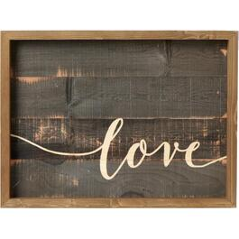 Plateau de service de 19,75 po x 14,75 po, avec inscription Love thumb