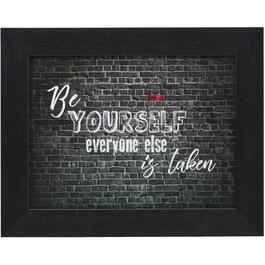 Plaque murale encadrée de 16 po x 20 po, Be Yourself thumb