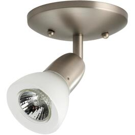 Rail d'éclairage affleurant à 1 lampe de la collection Luna, nickel brossé thumb