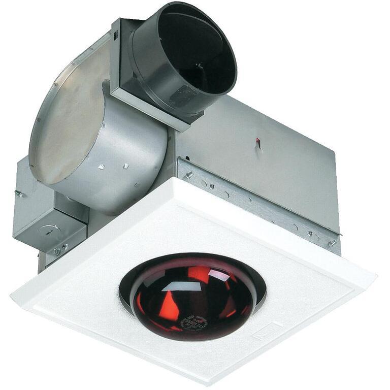 Ventilateur chauffant blanc, 70 pieds cubes/minute et 4 sones NUTONE ...