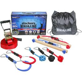 Ensemble NinjaLine de 30 pi, avec 7 obstacles suspendus thumb