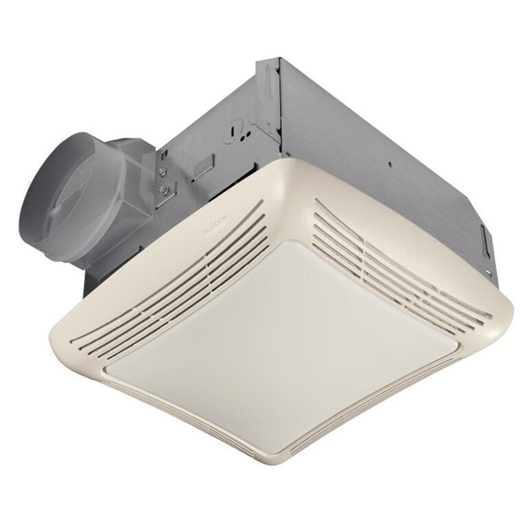 Ventilateur de salle de bains de 50 pieds cubes/minutes avec lumière ...