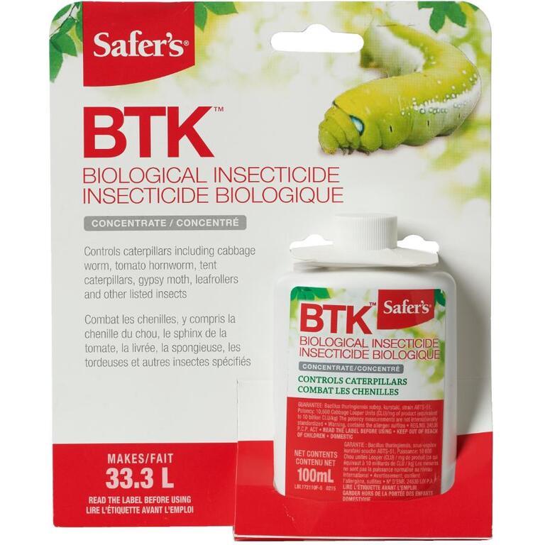Insecticide biologique et concentré BTK pour chenilles, 100 ml ...