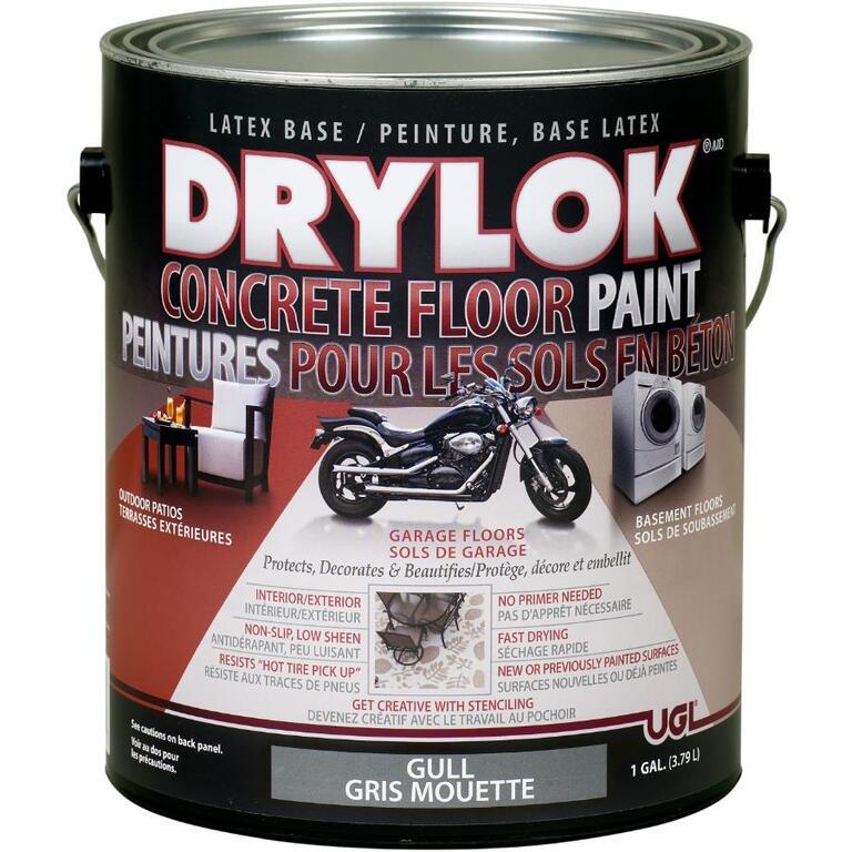 Peinture Au Latex Pour Plancher De Béton Gris Mouette L - Peinture pour plancher de beton