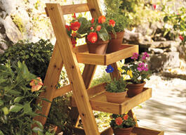 Tiered Outdoor Step Shelf