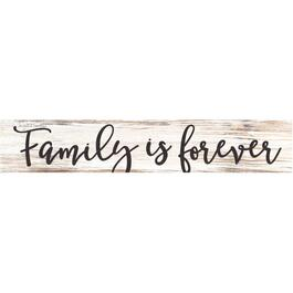 Plaque murale de 31,5 po x 5,5 po, Family Is Forever thumb