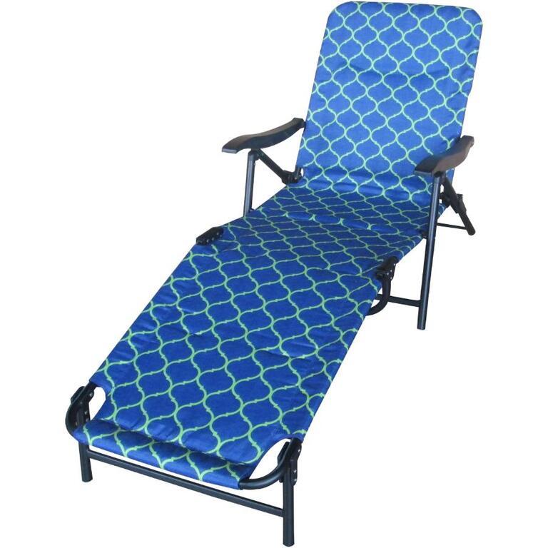 Outdoor Pliante Tissu FashionBleuvert Longue En Instyle Chaise ym8wOvNnP0