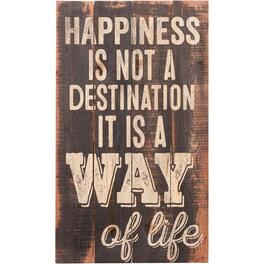 Plaque murale de 24 po x 14 po, Happiness Is Not A Destination It Is a Way Of Life thumb