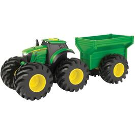 Tracteur moulé Monster Trade John Deere, avec wagon thumb