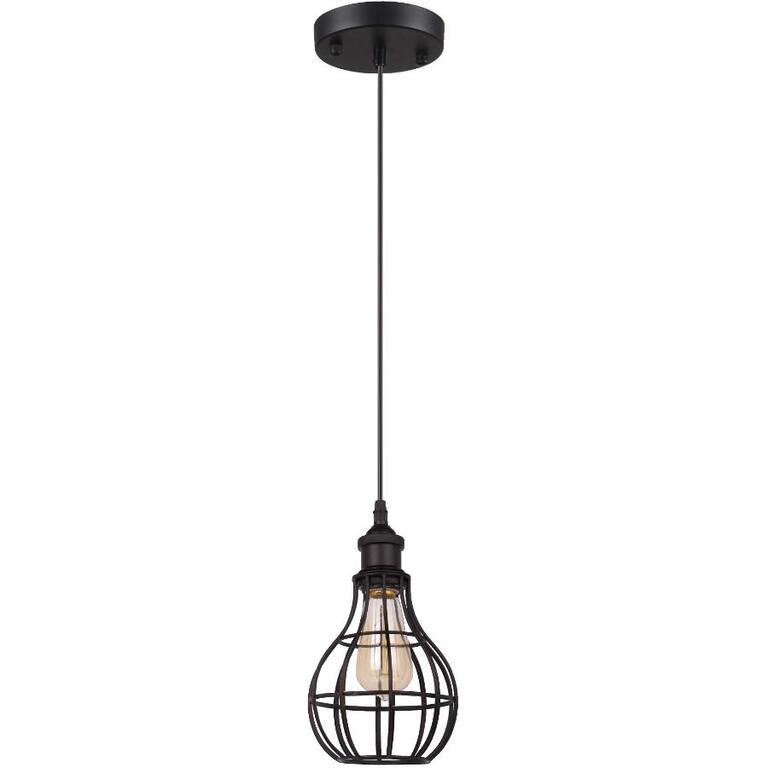 Luminaire Suspendu Lancy A 1 Lampe Avec Abat Jour En Fil Metallique