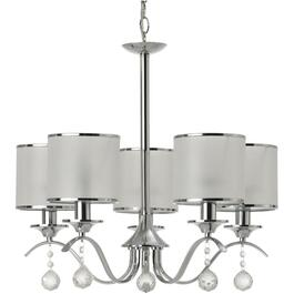 Luminaire chandelier à 5 lampes de la collection Portland, chrome thumb