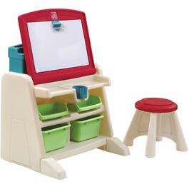 Ensemble de bureau et chevalet Flip and Doodle, avec banc thumb