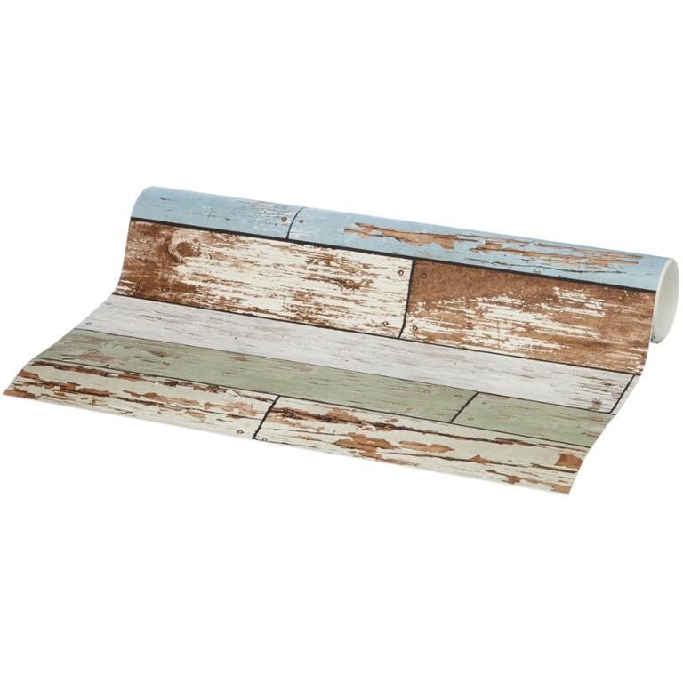 Papier peint peler et coller de 20,5 po x 18 pi, planche de bois rétro du vieux Salem WALLPOPS ...