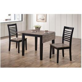 3 Piece Hampton Ebony and Ash Square Dinette Set thumb