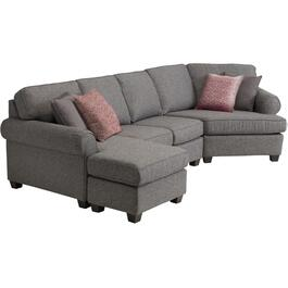 2 Piece Balance Graphite Sofa Sectional thumb